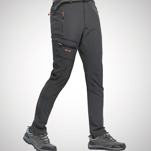 pantalones de senderismo impermeables hombre